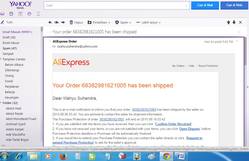 email-konfirmasi-order-aliexpress